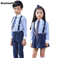 2019 new baby gentleman formal baby boys clothing sets infant tie shirt+overalls party wedding two piece suit boys clothes