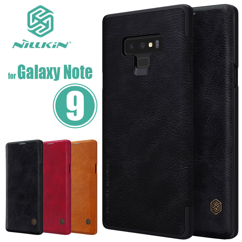 for Samsung Galaxy Note 9 Case Nillkin Qin Flip Leather Case Note9 Luxury Business Case for Samsung Note 9 Nilkin Back Cover