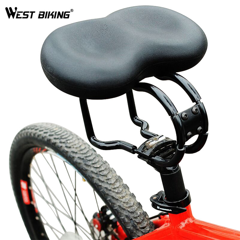 WEST BIKING Bike Saddle Ergonomic Saddles Padded Noseless Saddle Cycling Bike Soft Seat  ...