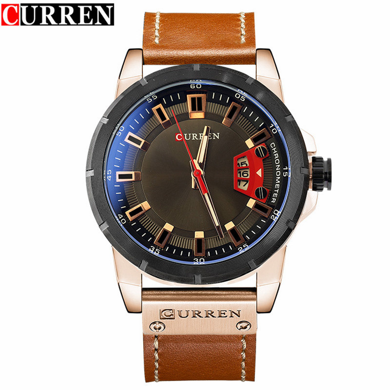 Relogio Masculino CURREN Watch Men Brand Luxury Military Quartz Wristwatch Fashion Casual Sport Male Clock Leather Watches 8284 liebig luxury brand sport men watch quartz fashion casual wristwatch military army leather band watches relogio masculino 1016