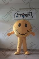DOLL smile face mascot costumes cartoon round doll costumes
