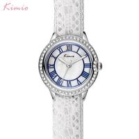 Kimio Women S Lace Bracelet Watches Classic Black White Ladies Dress Quartz Watch For Women Clock