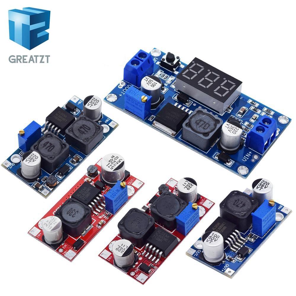 Greatzt boost buck conversor ajustável, inversor xl6009, módulo de fonte de alimentação 20w 5-32v para 1.2-35v