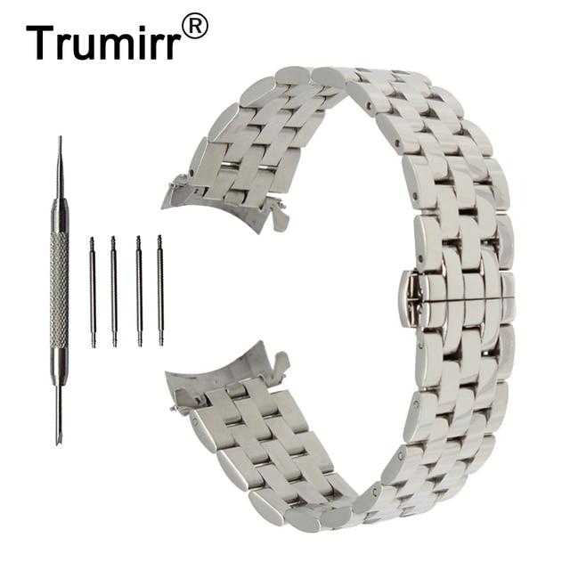 18mm 20mm 22mm 24mm ze stali nierdzewnej Watch Band zakrzywiony pasek dla Frederique Constant pasek do zegarka motyl bransoleta