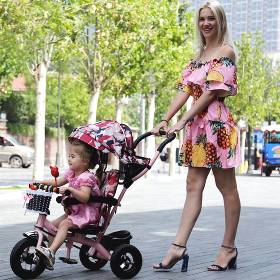 High quality child tricycle bike baby stroller Large sitair light trolley baby bicycle as gift for 1-6 years old 2016 updated new one touch swivel two way seat child tricycle infant stroller baby bike trolley swivel seat tricycle
