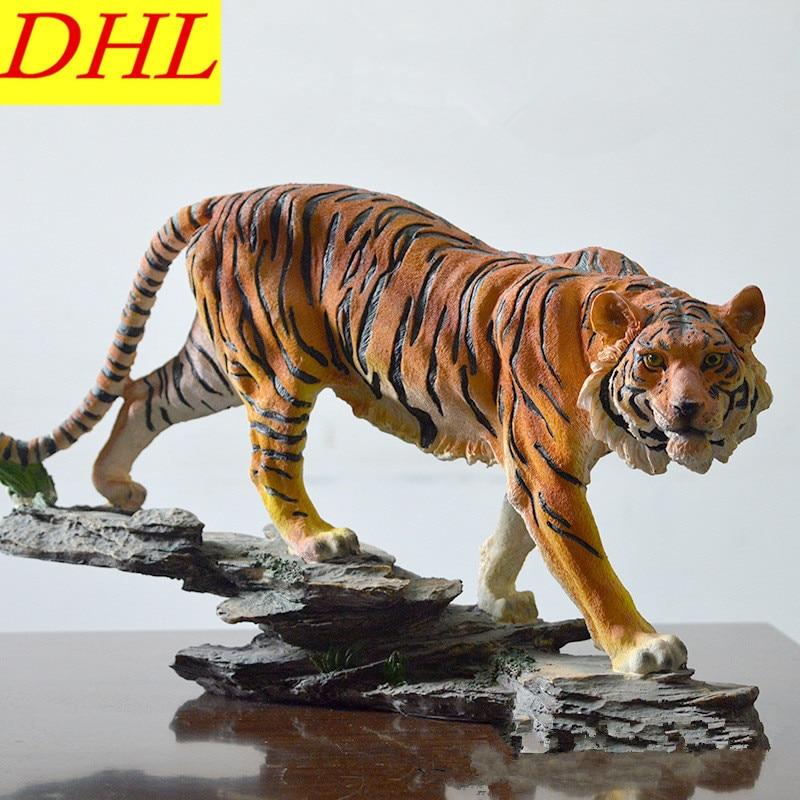 лучшая цена Animals Bust Simulation Tigers Statue Resin Art & Craft Home Decoration Accessories For Living Room L2232