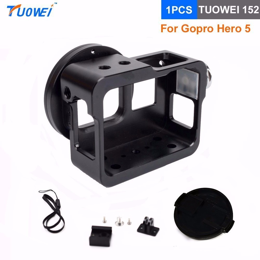TUOWEI Gopro Hero 5 6 5 Colors Aluminum Alloy Cage Protective Housing Metal Frame For Gopro