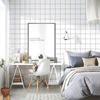 Grid Self adhesive Wallpaper Kitchen Bathroom Toilet Waterproof Wall Stickers Living Room Bedroom Nordic Modern Vinyl Wall Paper