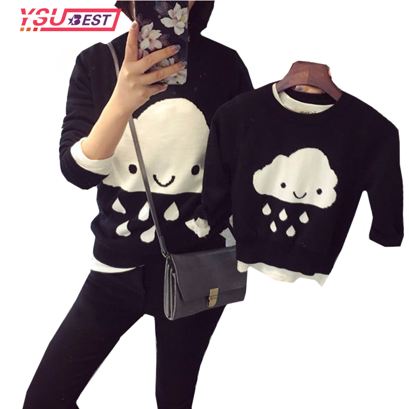 e2721f299cd5a2d 2018 Parent-child Outfits Cloud Family Look Sweaters Family Matching  Outfits Mother & kids Knit