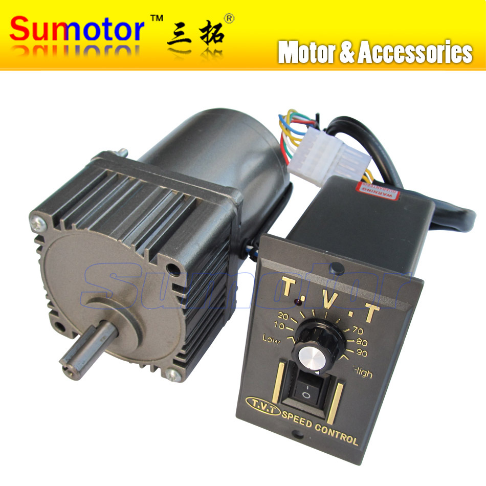 25W AC 220 240V 50 60HZ low rpm gear reducer motor with speed controller speed adjustable