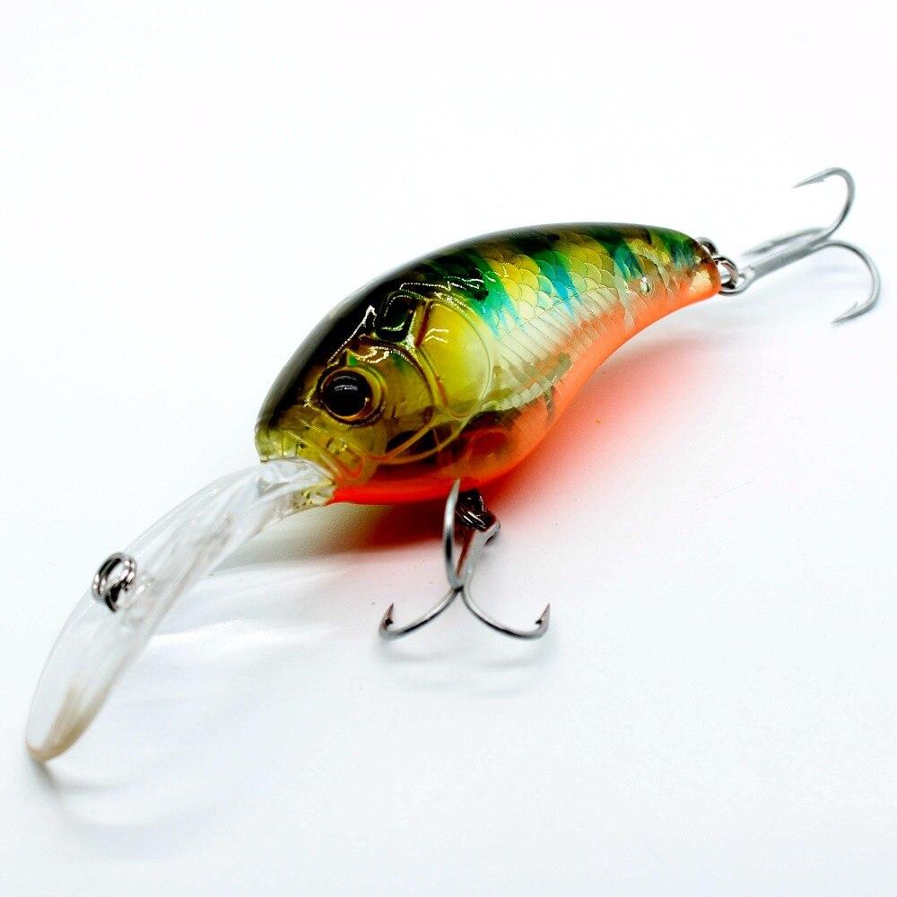 AOCLU Crank Fishing Lures-Bass Vmc Hooks Minnow Hard-Bait 6-Colors 9cm 13g Salt Fresh