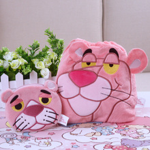 IVYYE 1PCS Pink Pather Cartoon Drawstring Bags Cute Plush storage handbags makeup bag Coin Bundle Pocket Purse NEW