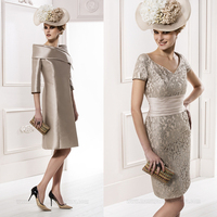 2015 Top Fashion Hot Selling Lace Mother Of The Bride Lace Dress Knee Length Formal For Wedding With Jacket