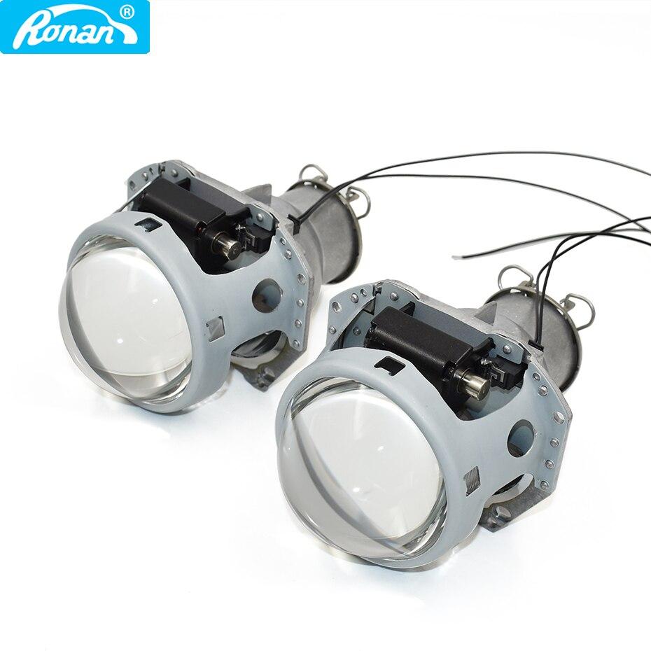 Ronan 2019 nouveau style 3.0 hella 5R h7 bi xénon projecteur lentille utiliser LED H7 ampoule voiture phare pour voiture rénovation