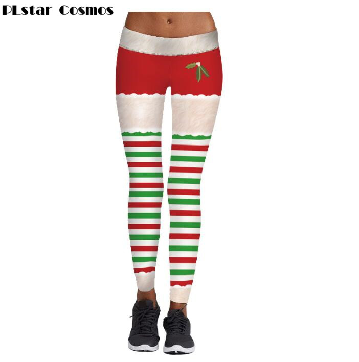 PLstar Cosmos Christmas Leggings For Women Lady Casual Elasticity Skinny Printed Stretchy Pants Leggings Trouser