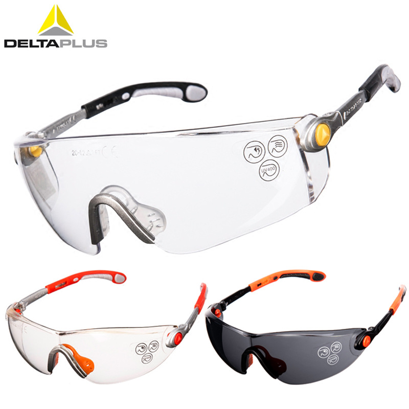 Deltaplus Protective Glasses Anti-Impact Anti-Splashing PC Lens Safety Goggles Working Riding Dustproof Labor Protection Eyewear