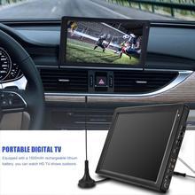 Leadstar 12,1 дюймовый портативный телевизор DVB-T2 DVB-T перезаряжаемый цифровой ТВ аналоговое телевидение автомобильный тв плеер большой TFT-LED экран 110V~ 240V