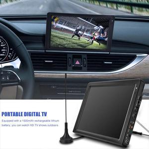 LEADSTAR 12.1inch Portable TV DVB-T2 DVB-T Rechargeable Digital TV Analog Television Car TV Player Big TFT-LED Screen 110V~240V