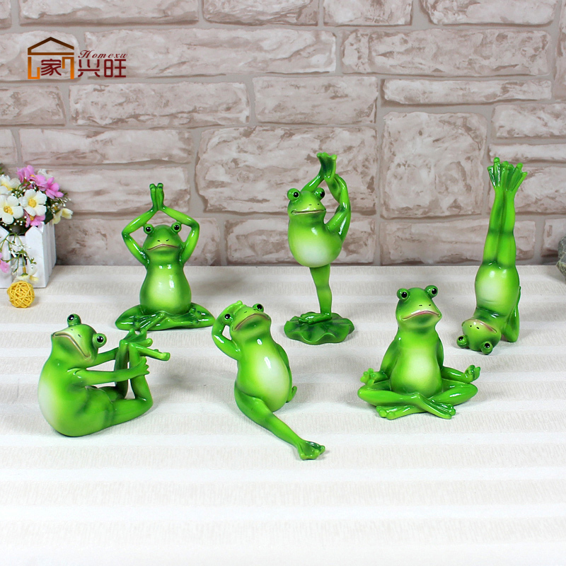 Yoga Frog Thriving Home Garden Ornaments , Home Accessories And Creative  Combination Package Resin Simulation Frog Decorations On Aliexpress.com |  Alibaba ...