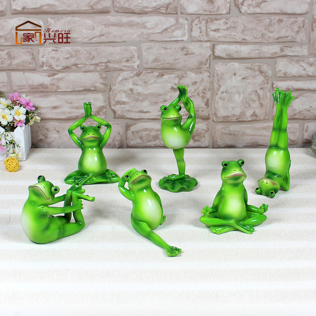 Yoga Frog Thriving Home Garden Ornaments , Home Accessories And Creative  Combination Package Resin Simulation Frog
