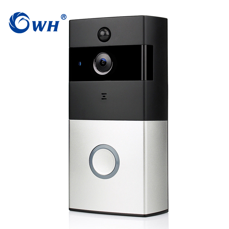 CWH HD Wireless Doorbell Camera Door Bell WiFi Video Phone Intercom Cam With Dingdong SD Card Recording Support Battery Powered
