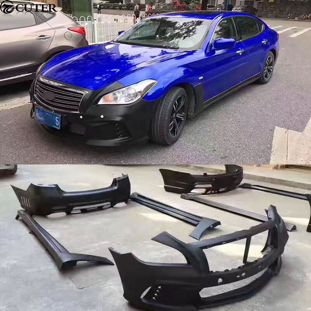Q70 WD Style Car Body Kit FRP Car Front Rear Bumper Side