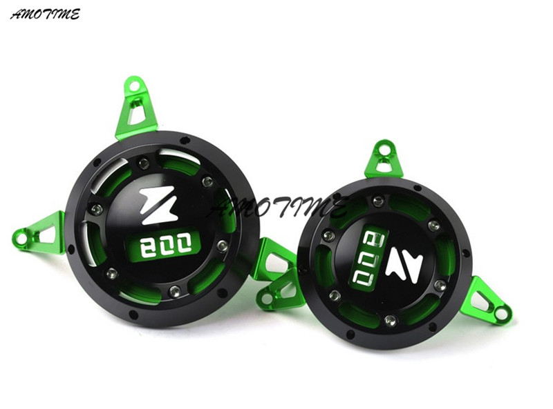 Motorcycle CNC Aluminum Engine Stator Cover Engine Protective Cover Green For KAWASAKI Z800 2013-2016 motorcycle cnc aluminum engine stator cover engine protective cover engine generator guard for kawasaki z900 z 900 2017