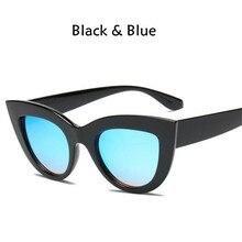 2018 New Cat Eye Femmes lunettes de Soleil Teintées Couleur Lentille Hommes  Vintage En Forme de Soleil Lunettes Femme Lunettes B.. 961d50cccc34