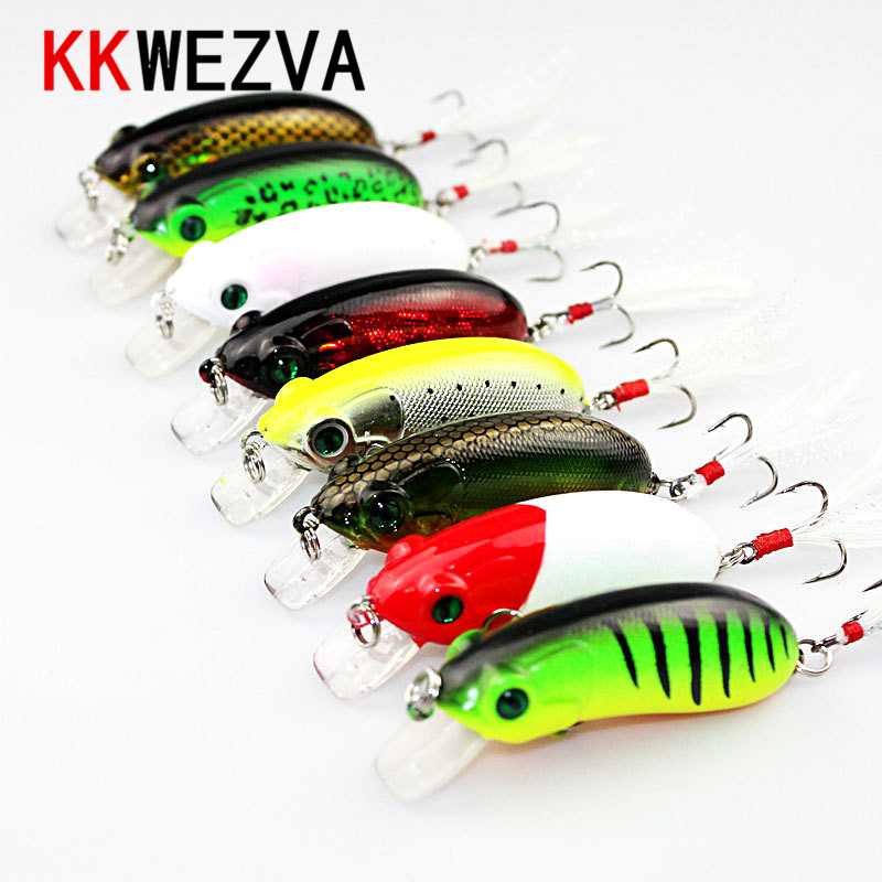 KKWEZVA 6CM 10G insect Fishing Lure Deep swim hard bait fish artificial baits minnow fishing wobbler japan pesca