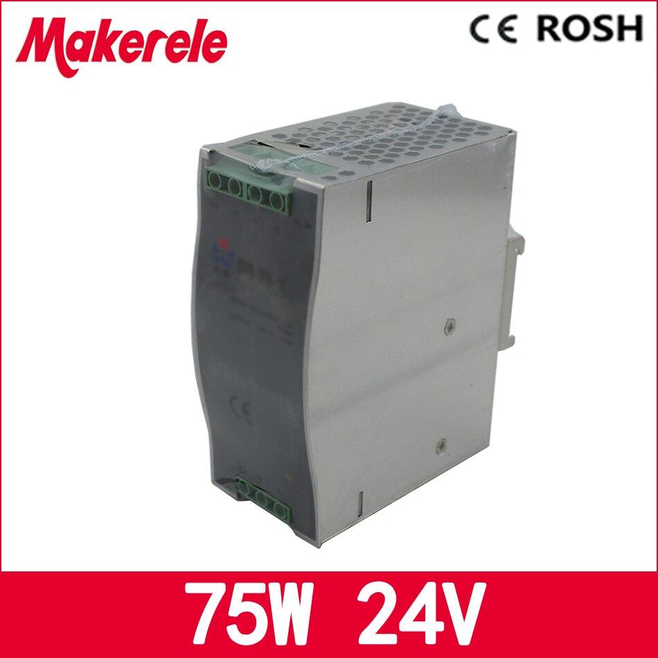 75w Dr-75-24 3.2a 24v Din Rail Switching Power Supply for led driver ac dc power supply qbcv e20810 e20798 75