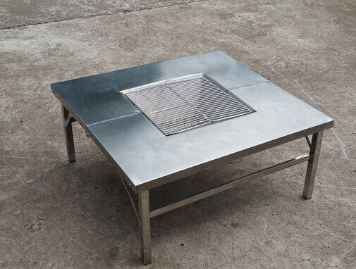 Picnic Table Stainless Steel Barbecue Table Picnic Table Outdoor - Stainless steel picnic table