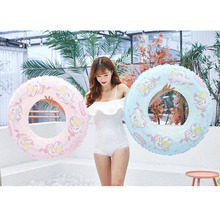 Inflatable Unicorn Adult Children Swimming Ring Summer Party Decoration Gift Pool Float Toys Thicken Equipment Lifebuoy