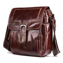 Head layer cowhide Men's iPad Bags leather shoulder bag  Designer crossbody bag Men Messenger Bags