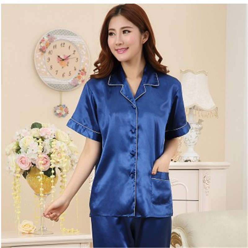 Aliexpress.com : Buy New Women Summer Silk Pajamas Love Sleepwear ...