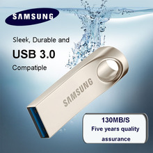 New SAMSUNG USB Flash Drives 64G 128GB speed 130MB/s USB 3.0 mini pendrive 32GB pen drive Memory Stick Storage Device U Disk(China)
