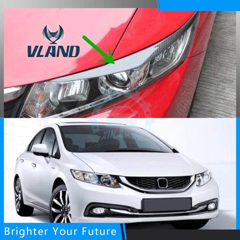 Front Head Lamps For HONDA Civic headlights 2012-2014 New Civic LED drl H7 hid Q5 Bi-Xenon Lens low beam цена 2017