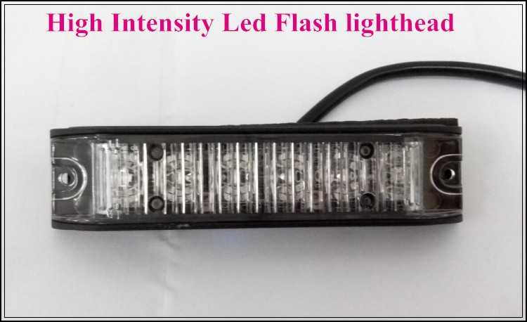 ФОТО DC10V-30V,6*3W led car grill emergency lights,led warning lightheads,police strobe lights,15flash,waterproof