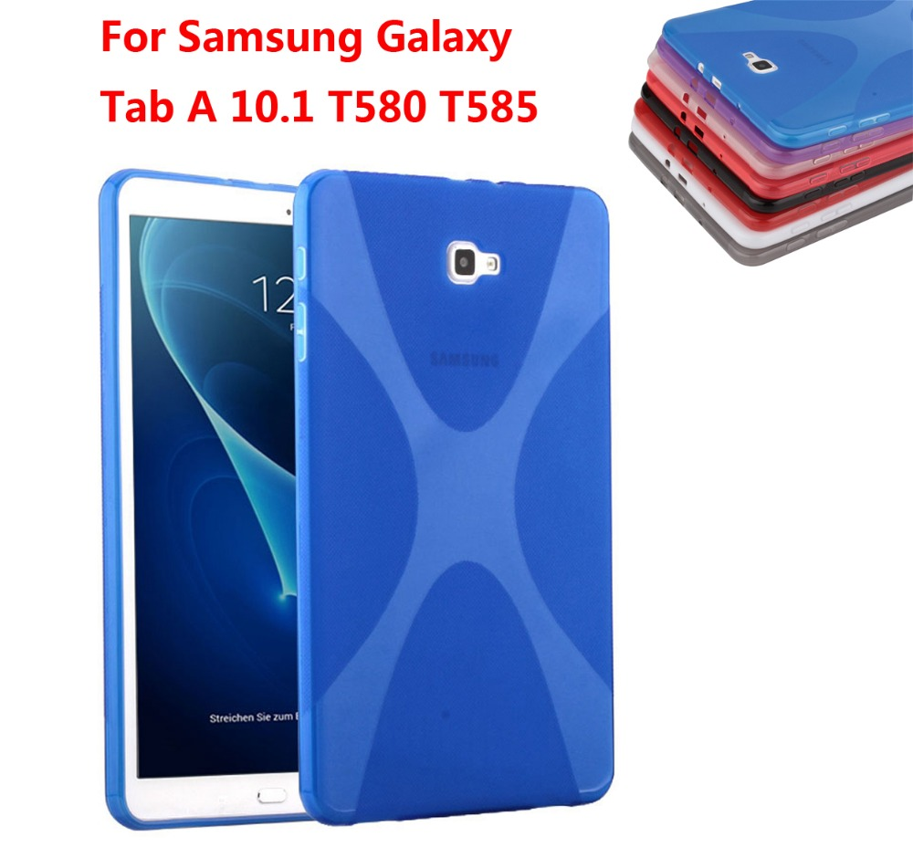 X-Line X Soft TPU Silicon Case Rubber Protective Gel Cover Skin Shell Case For Samsung Galaxy Tab A 10.1 (2016) T580 T585 embossed tpu gel shell for ipod touch 5 6 girl in red dress