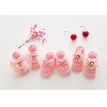 3 пар/компл. детские носки для малышей, носки для девочек детские носки с мультяшным принтом для девочек кружевные, Детские хлопковые противоскользящие носки с бантом для маленьких девочек платье-пачка для новорожденных