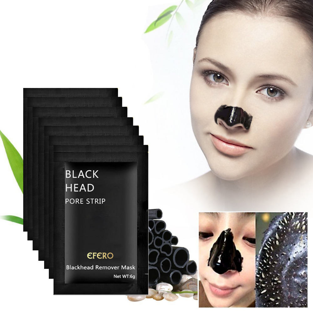 Black Face Mask Minerals Nose Blackhead Remover Acne Black Mask Pore Cleanser Black Head Remover Pore Strip Whitening Skin Care in Treatments Masks from Beauty Health