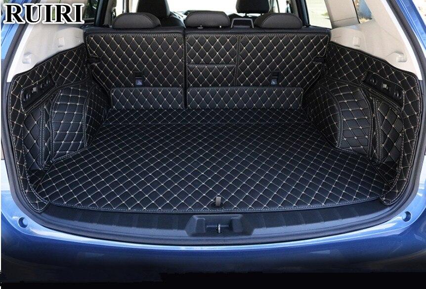 Top qualidade! Esteiras tronco carro especial para Subaru Forester 2019 à prova d' água tapetes boot forro de carga para Forester 2019, Frete grátis