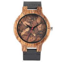 Montre en bois montres hommes Design minimaliste Original en bois bambou Montre mâle en bois horloge Montre Homme livraison directe