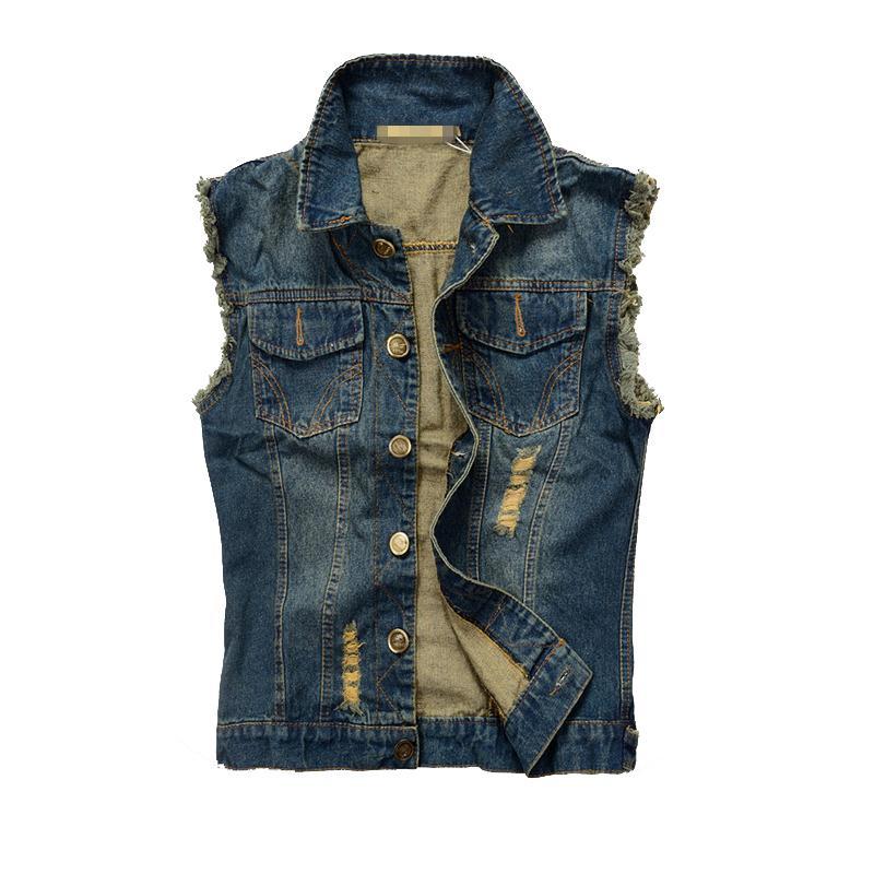 Jean Jacket Vest For Guys - Pl Jackets