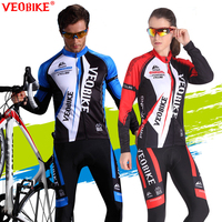 VEOBIKE MTB Cycling Jersey Set 2017 Pro Team Bike Clothing Men Women Long Sleeve Bicycle Clothes