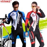 VEOBIKE MTB Cycling Jersey Set 2017 Pro Team Bike Clothing Men Women Long Sleeve Bicycle Clothes