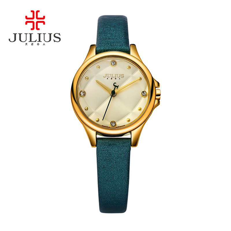 JULIUS Top Brand Luxury Gold Watch Hand Clock Logo Wrist ...