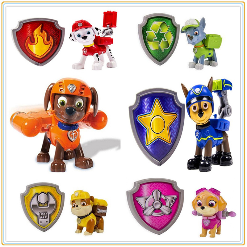 6pcs set Canine Patorl Dog Everest Toys 7CM Russian Anime Doll Patrol Puppy Action Figure Patrulla Canina Brinquedos Child Gift new 3 5inch patrol dog anime toys action figure moviejuguetes brinquedos cute puppy patrol toys for child gift girls children