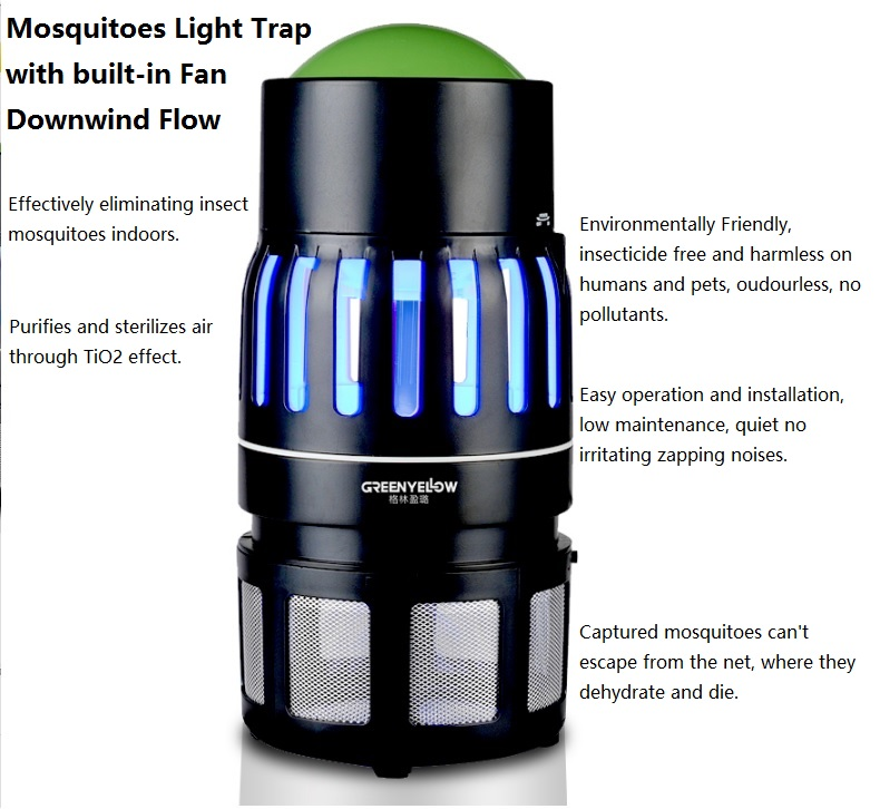 220V/15W Mosquito UV Light Trap e27 15w 2u uv curing light sterilization disinfection mosquito killer light bulb 220v