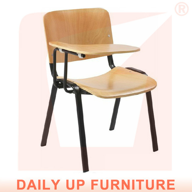 stacking tablet plastic chair lecture chair with writing tablet