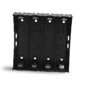 Image 2 - 100PCS/Lot 18650 Battery Holder 18650 Battery Box Holder Batteries Case For 4*3.7V 18650 Lithium Battery For Soldering Connect